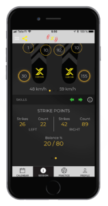 Xampion App reveals the balance of how much the player uses both feet.
